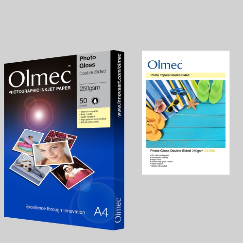 Olmec Photo Gloss Double Sided 250gsm OM65
