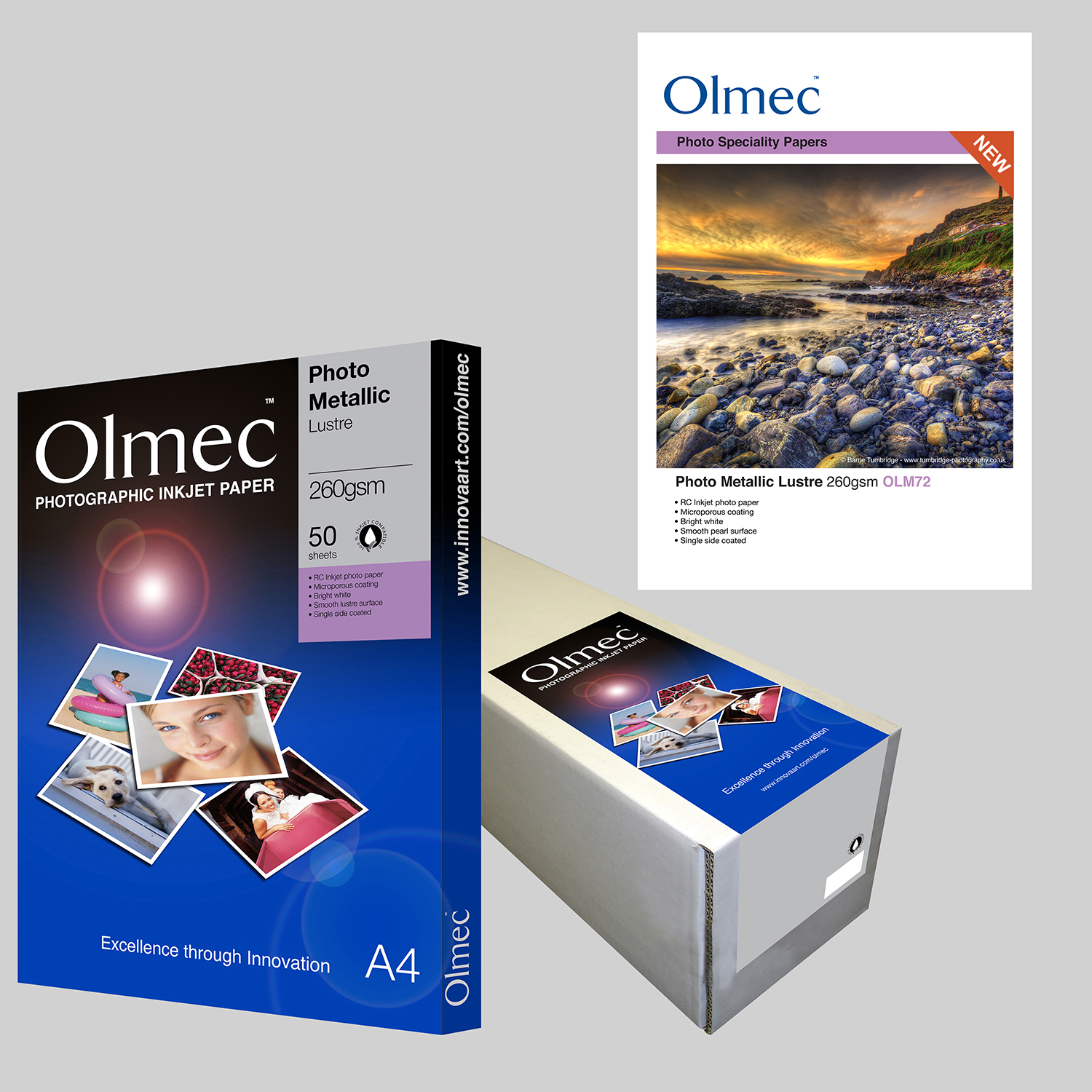 Olmec Photo Metallic Lustre 260gsm OLM 72