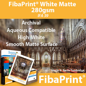 280gsm Matte inkjet paper comaptible with pigment and dye printers. Shares similarities with fiber based silver-halide papers.