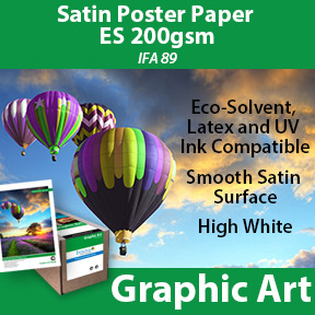 200gsm Satin poster paper compatible with eco-solvent, latex and UV inkjet printers