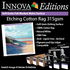 Etching Cotton Rag 315gsm   Innova Editions Range   Inkjet Fine Art Paper