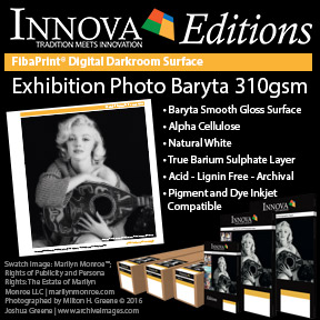 Exhibition Photo Baryta 310gsm | Innova Editions | Inkjet Pigment and Dye Compatible Photo Paper
