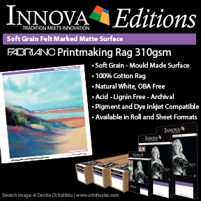 Fabriano Printmaking Rag 310gsm | Innova Editions | Mould Made Inkjet Fine Art PAper