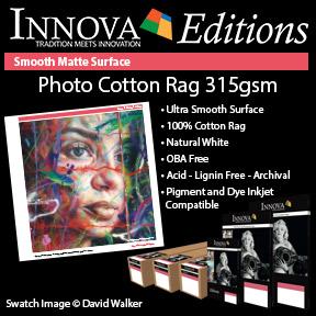 Photo Cotton Rag 315gsm   Innova Editions   Smooth Matte Inkjet Fine Art Paper