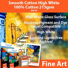 Smooth Cotton High White 100% Cotton 215gsm IFA 04   Innova Fine Art   Inkjet Fine Art Paper