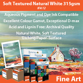 Soft Textured Natural White 315gsm | IFA 12 | Innova Fine Art