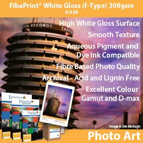 FibaPrint White Gloss (f-type) 300gsm Innova Photo Art | Fibre Based Inkjet Photo Paper