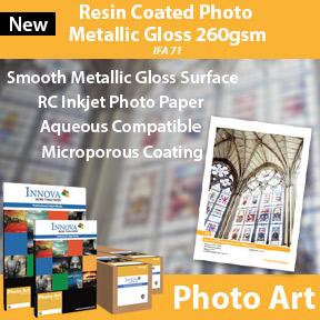 Resin Coated Metallic Gloss 260gsm (IFA 71)   Innova Photo Art   RC Inkjet Photo Paper
