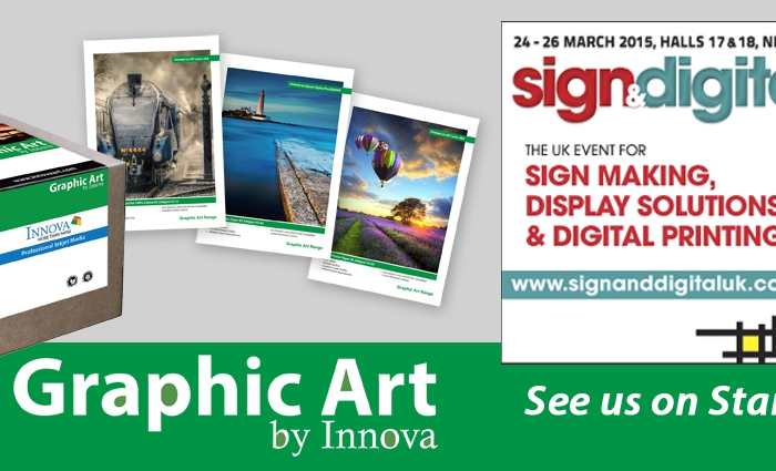 See the Graphic Art by Innova range at Sign and Digital UK 2015