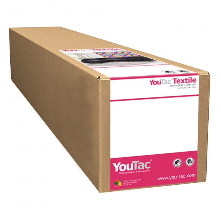 "YouTac Textile Eco-solvent, Latex, UV Compatible | Available on rolls from 30"" to 60"""