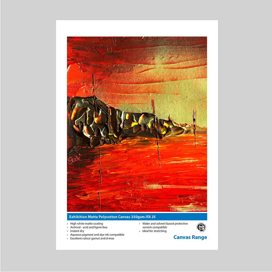 Innova Exhibition Matte Polycotton Canvas 350gsm IFA 35 Swatch