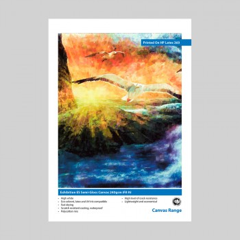 Exhibition ES Semi-Gloss Polyester Canvas 240gsm IFA 95 Swatch