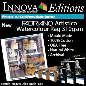 Innova Editions | New Fabriano Artistico Watercolour Rag 310gsm | Mould Made Inkjet Fine Art Paper
