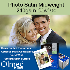 Olmec | Photo Satin Midweight 240gsm OLM 64 | Resin Coated Inkjet Photo Paper