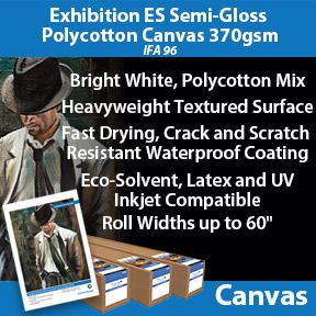 Exhibition ES Semi-Gloss Polycotton Canvas 370gsm IFA 96   Innova Eco-Solvent, Latex and UV Compatible Inkjet Canvas