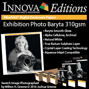 Exhibition Photo Baryta 310gsm   Innova Editions Pigment and Dye Inkjet Compatible Photo Paper