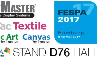 See JetMaster® Image Display Systems, YouTac® Textile and the Innova Graphic Art and Canvas ranges on Stand D76 in Hall A1 at FESPA 2017 Hamburg, 8-12 May