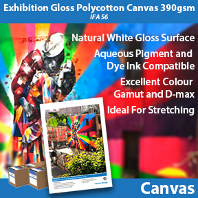 Exhibition Gloss Polycotton Canvas 390gsm | Inkjet Canvas | Innova Art
