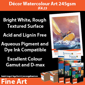 Décor Watercolour Art 245gsm (IFA 23) | Innova Fine Art | Inkjet Fine Art Paper