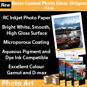 Resin Coated Photo Gloss 260gsm (IFA 60) | Innova Photo Art | RC Inkjet Photo Paper