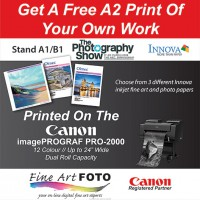 Get a free print of your own work on the Innova Art stand at The Photography Show 2018
