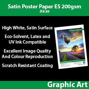 Satin Poster Paper ES 200gsm (IFA 89) | Innova Graphic Art | Eco-Solvent, Latex and UV Comaptible Poster Paper