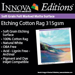 Etching Cotton Rag 315gsm | Innova Editions® | Archival Inkjet Fine Art Paper