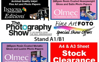 The Photography Show 2018 | Special Offers from Fine Art Foto | Stand A1/B1 (Innova Art)