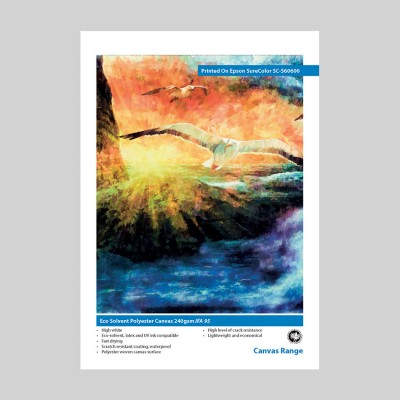 Innova Eco Solvent Polyester Canvas 240gsm IFA 95 Swatch | Latex, UV and Eco Solvent Ink Compatible