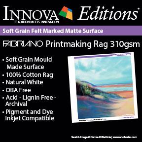 Fabriano Printmaking Rag 310gsm | Innova Editions® Archival Inkjet Fine Art Paper