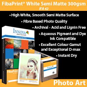 Innova FibaPrint® White Semi Matte 250gsm (IFA 42) | Archival Inkjet Photo Paper