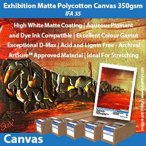 Innova Exhibition Matte Polycotton Canvas 350gsm (IFA 35)   Inkjet Canvas