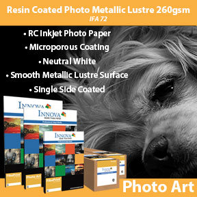 Resin Coated Photo Metallic Lustre 260gsm (IFA 72) | Inkjet Photo Paper | Innova Art