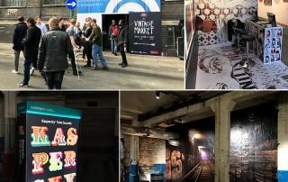 Innova YouTac Textile installations at Moniker Art Fair 2017
