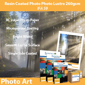 Resin Coated Photo Lustre 260gsm (IFA 59) | Inkjet Photo Paper | Innova Photo Art Range