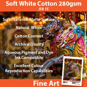 Soft White Cotton 280gsm (IFA 15) | Archival Inkjet Paper | Innova Fine Art