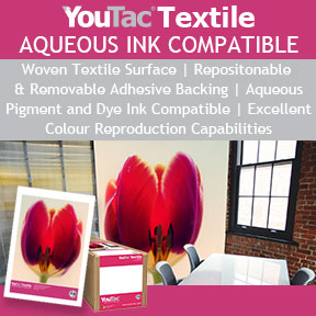 YouTac Textile Aqueous Ink | Repositionable and Removable Wall Graphics | Innova Art