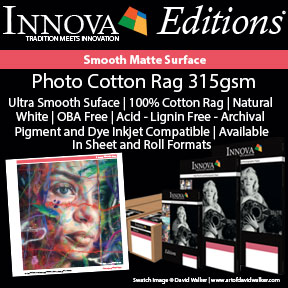 Photo Cotton Rag 315gsm | Innova Editions | Smooth Matte Archival Inkjet Paper