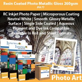 Resin Coated Metallic Gloss 260gsm (IFA 71) | Inkjet Photo Paper | Innova Art