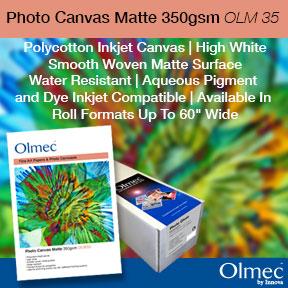 Olmec Photo Canvas Matte 350gsm (OLM 35) | Inkjet Canvas | Innova Art
