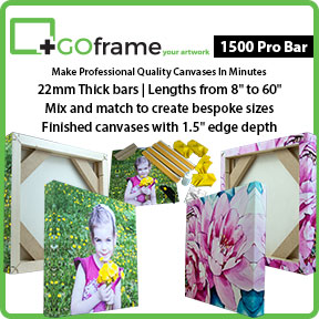 GOframe 1500 Pro Bar | Canvas Stretching System | Innova Art