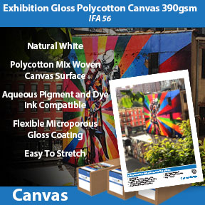 Exhibition Gloss Polycotton Canvas 390gsm (IFA 56 | Inkjet Canvas | Innova Art
