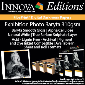 Exhibition Photo Baryta 310gsm (IFA 69) | Archival Inkjet Photo Paper | Innova Editions