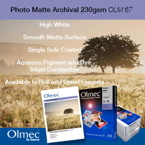 Olmec Photo Matte Archival 230gsm (OLM 67) | Matte Inkjet Photo Paper