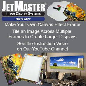 JetMaster Photo Wrap | Canvas Effect Image Display