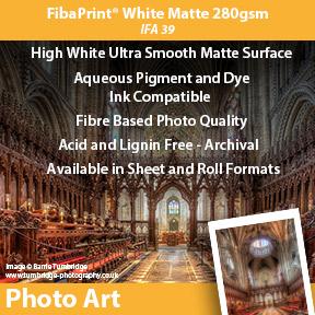 Innova FibaPrint® White Matte 280gsm (IFA 39) | Archival Inkjet Photo Paper